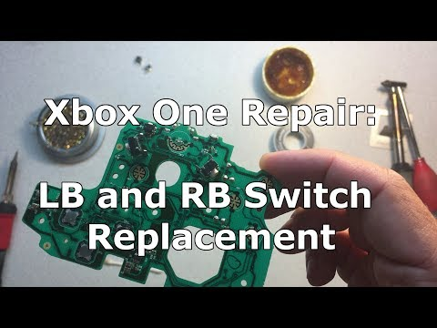Xbox One Controller Repair: LB and RB Tactile Switch Replacement