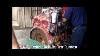 4-71 Detroit Diesel Rebuilt First Run Test 160HP