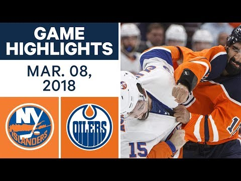 NHL Game Highlights | Islanders vs. Oilers - Mar. 08, 2018