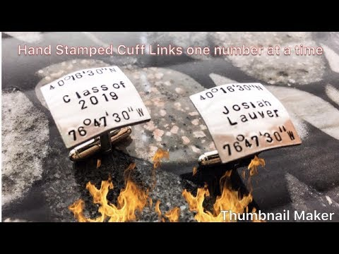 Hand Stamping Cufflinks- Men's Jewelry -posting Daily Challenge