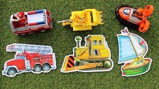 Щенячий патруль собираем пазлы Пожарная машина Бульдозер Лодка Paw Patrol puzzle
