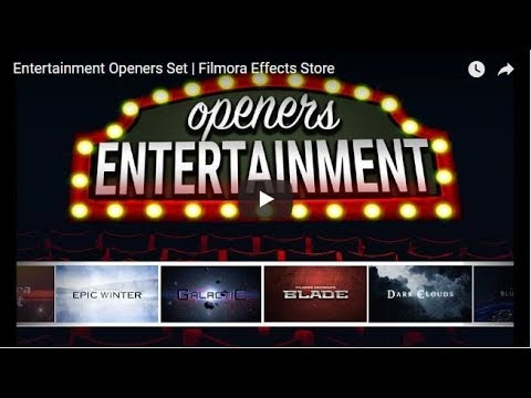 Wondershare Filmora Entertainment Openers Set Download Link | After Effects