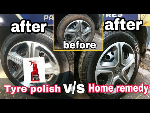 How to super clean car tyre with HOME REMEDIES|tyre cleaning TUTORIAL