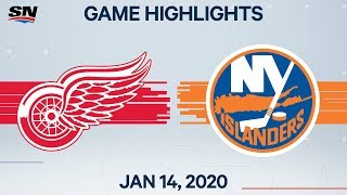 NHL Highlights | Red Wings vs Islanders - Jan. 14, 2020