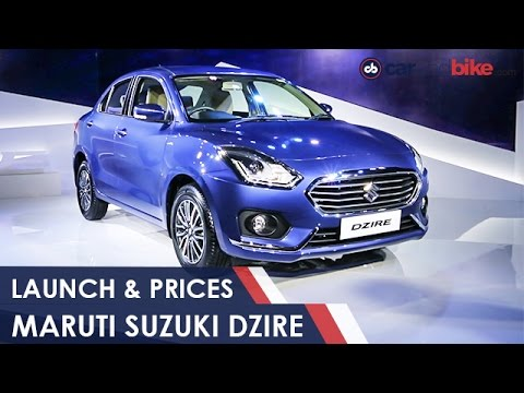 2017 Maruti Suzuki Dzire Launch And Prices - NDTV CarAndBike