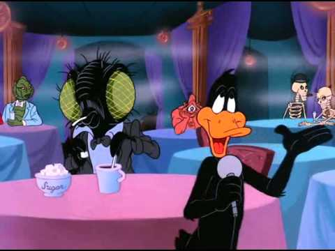 Daffy Duck (Mel Torme) Monsters Lead Such Interesting Lives (NIGHT OF THE LIVING DUCK, 1988)