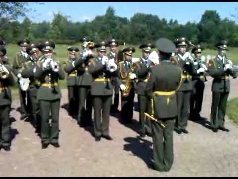 Russian and German national anthems played by Russian Army Band
