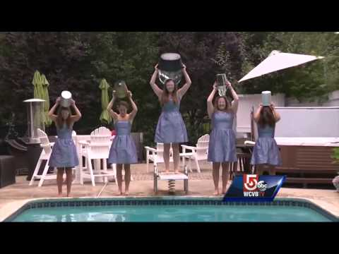 Bridal party for Pete Frates' cousin takes ice bucket challenge