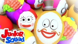 Humpty Dumpty Sat On A Wall | Junior Squad nursery rhymes | kids tv