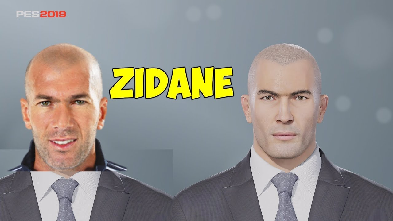 PES 2019 | How to create Zinedine Zidane's face (Xbox One, PS4, PC)