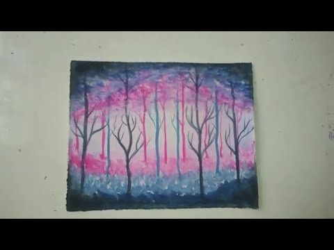 Easy watercolor small painting landscape ❤