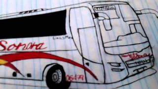 Algunos dibujos de buses hechos por mi