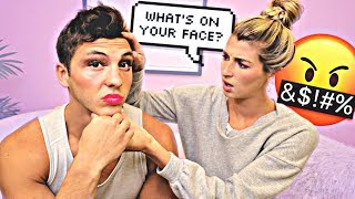 I PUT MAKEUP ON TO SEE HOW SHE REACTS... *SURPRISING *
