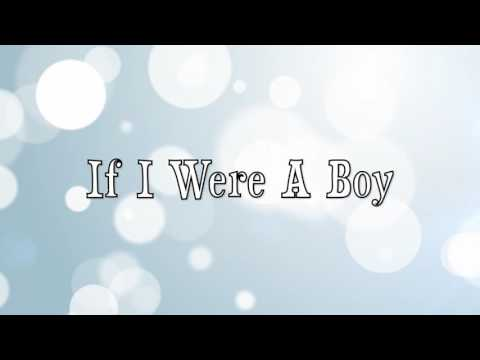 Beyonce- If I were a Boy Lyrics