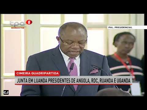 Cimeira quadripartida - junta em Luanda Presidentes de Angola,RDC,Ruanda,e Uganda.
