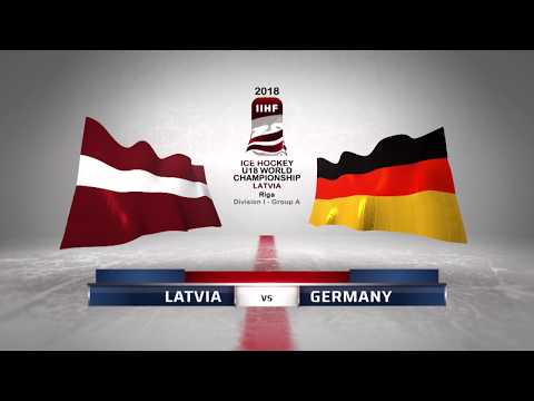 LATVIA - GERMANY 3-1 Highlights /2018 IIHF World Ice Hockey Championship U18 Division I /