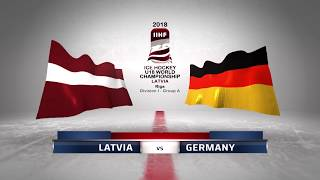 LATVIA - GERMANY 3-1 Highlights /2018 IIHF World Ice hockey championship U18 Division I /