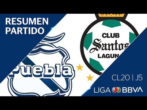 Resumen y Goles | Puebla vs Santos Laguna | Jornada 5 - CL 2020  - Jornada 5