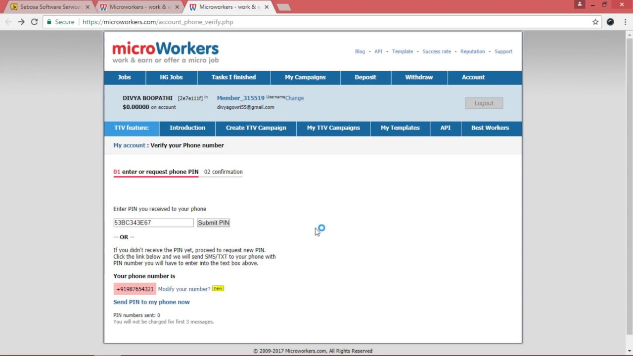 How to solve microworkers phone verification problem | Home based ...