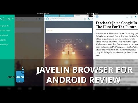 Javelin browser for Android Review