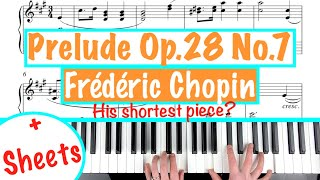 Prelude in A Major Op. 28 No. 7 - Frédéric Chopin | Piano Tutorial Lesson +Sheets