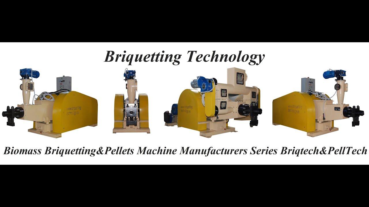 Briquetting Technology Ltd Series Briqtech Mechanical Briquetting Machine Presses Manufacturers