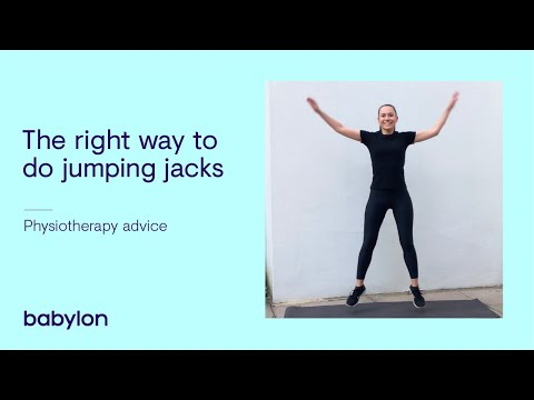 How to do jumping jacks the right way | Tips from our physiotherapist