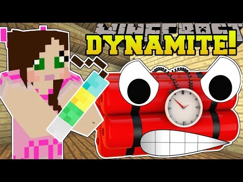 Minecraft: CRAZY DYNAMITE! (LUCKY DYNAMITE, DEATH TRAP DYNAMITE, & MORE!) Mod Showcase