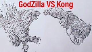 How to Draw GodΖilla VS Kong Part 1