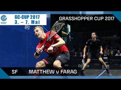 Squash: Matthew v Farag - Grasshopper Cup 2017 SF Highlights