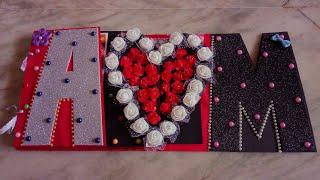 Name greeting card// Love Scrapbook //Anniversary scrapbook card
