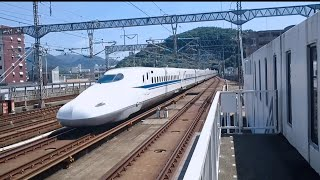 【山陽新幹線高速通過】  N700A  新下関駅 #HIROYUKIZ  '17