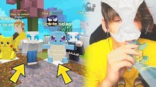 RIUSCIRO' A NON BAGNARMI CHALLENGE ?! w/ Anlix Minecraft Poke Wars