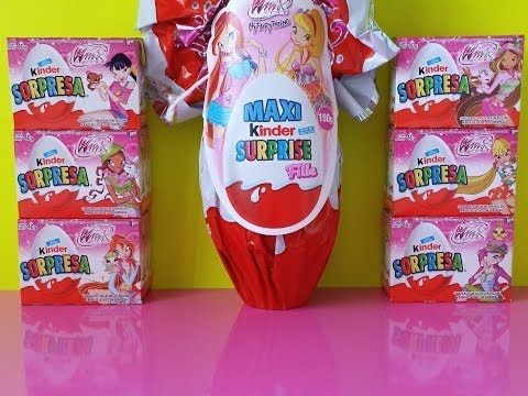 Kinder Surprise Eggs Winx Club