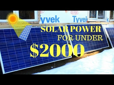 Off Grid Solar- On A Budget
