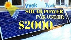 Off Grid Solar- On A Budget