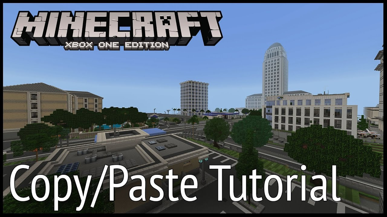 Minecraft Xbox - Copy/Paste Tutorial (Commands)