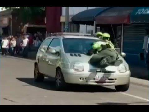 Conductora arrolla a polic�a en C�cuta
