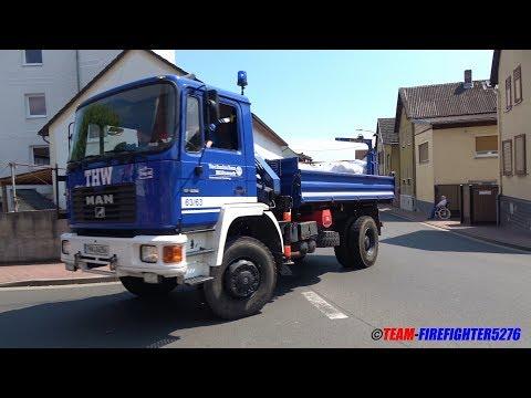 [Unwetter über Gambach] Großübung von FF, THW und DRK aus dem Landkreis Wetterau
