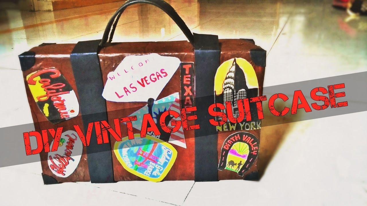 DIY VINTAGE SUITCASE |Storage box |Bon Voyage gift |Shruti Basutkar & DIY VINTAGE SUITCASE |Storage box |Bon Voyage gift |Shruti Basutkar ...