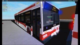 ROBLOX Buses: TTC Orion VIIs departing Sheppard-Yonge
