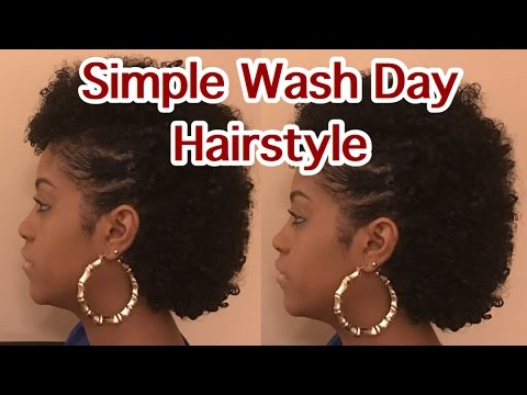 Natural Hair Easy Wash Day Hairstyle Youtube