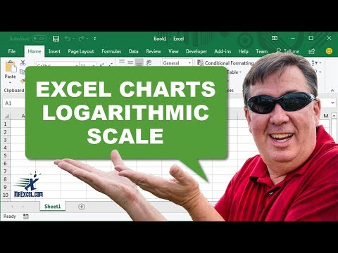 how to create semi log graph on excel