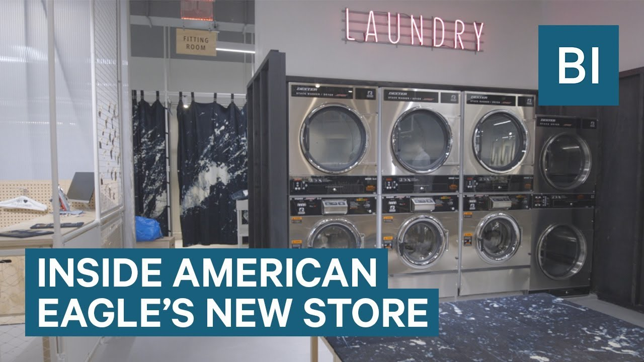 Inside The New American Eagle Store Where You Can Do Your Laundry