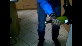 How to open and bottle of wine without a cork screw - THIS HAS SOME SOLE.3GP