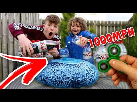 Thumbnail: 1000+ MPH FIDGET SPINNER Vs Diet Coke and Mentos WUBBLE BUBBLE!!! *CRAZY* FIDGET SPINNER TRICKS!!! 😱