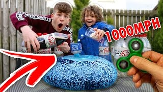 One of TheNewAdamb99's most viewed videos: 1000+ MPH FIDGET SPINNER Vs Diet Coke and Mentos WUBBLE BUBBLE!!! *CRAZY* FIDGET SPINNER TRICKS!!!