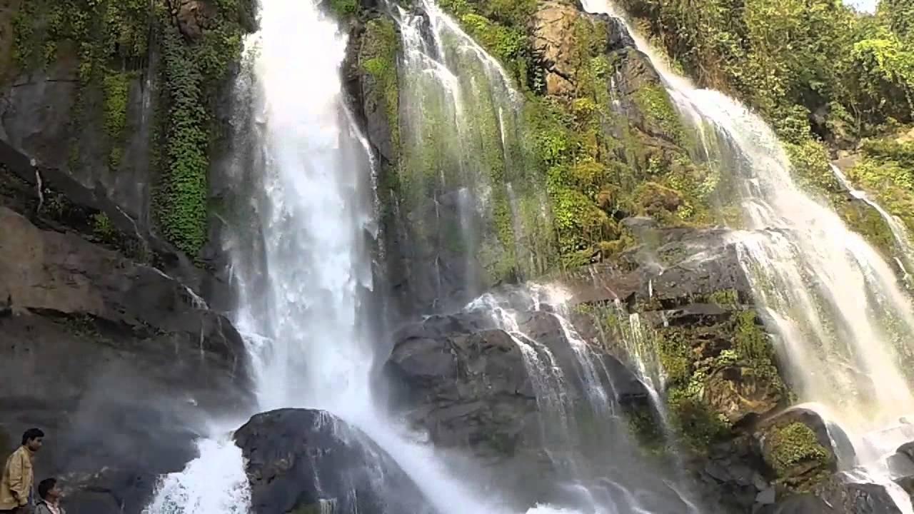 picnic at waterfall