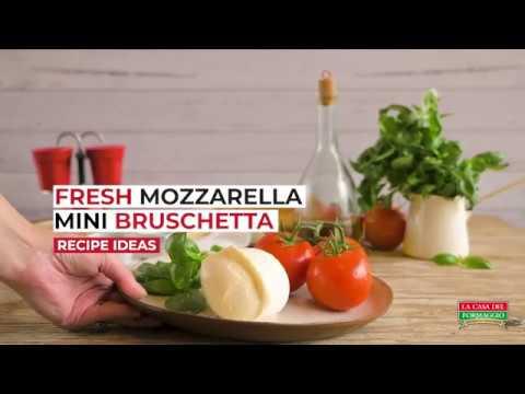 Caprese Bruschetta with Fresh Mozzarella