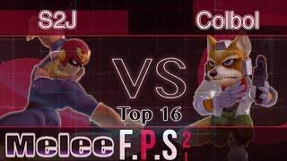 Tempo|S2J (C. Falcon) vs. SS|Colbol (Fox) - Melee Top 16 - FPS2